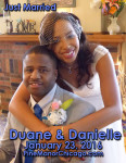 Danielle Hughes and Duane Brown Were Married in Chicago, IL January 23, 2016