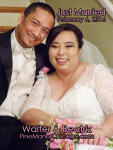 Beatriz Calalec and Walter Pagal Married February 6, 2016