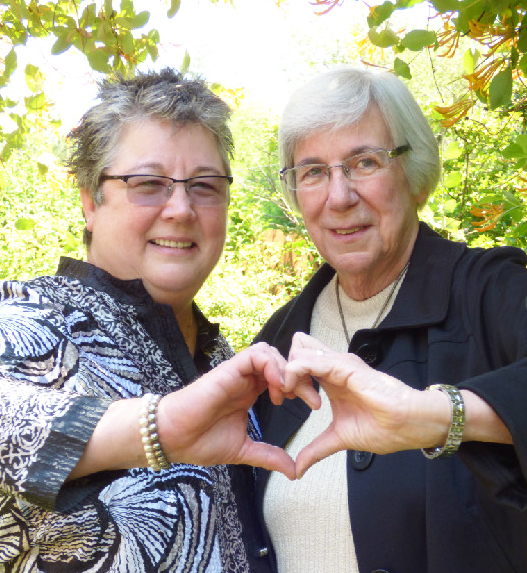 A true success story, Rev Pam marries this lesbian couple after being together for 30 years