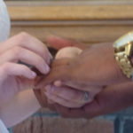 Wedding rings used in a ceremony performed by Rev Pam Wedding ritual performed by Rev  Pamela the IL Wedding Offiiant, pine manor chicago, garden cremony or by the historic fireplace.Call CST 8-8pm to book your wedding or event at Pine Manor 847-873-7463