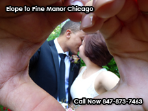 where to elope in chicago, pine manorhas elopement packages for every budget