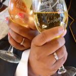 Engraved Wine Glasses and Toasting Reception