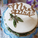 small wedding cake for two