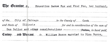 Boorman, Coughlin, and Forde Real Estate in Mt. Prospect Obtain Property for Busse Family – 1928